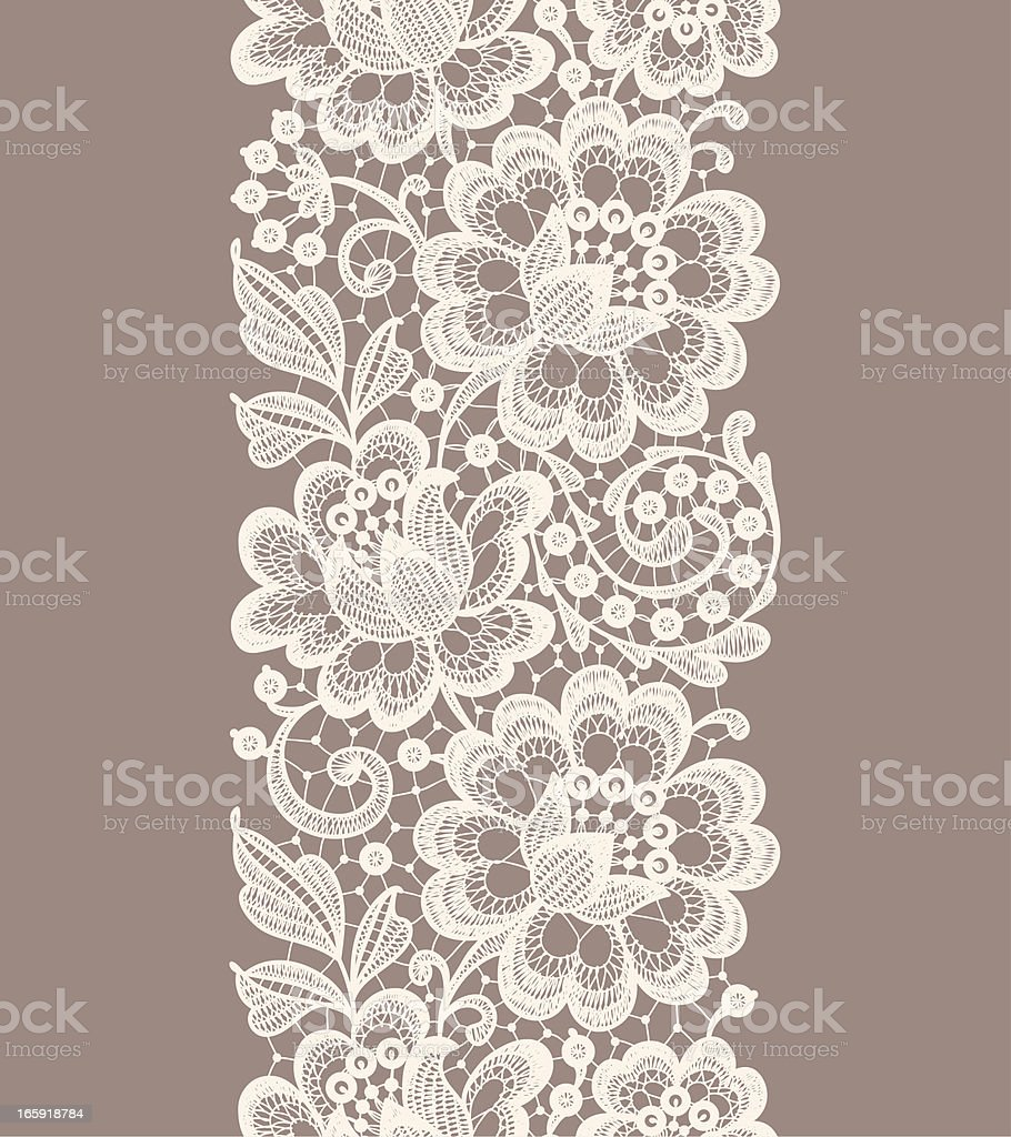 Dentelle à motif sans couture. Ruban. - Illustration vectorielle