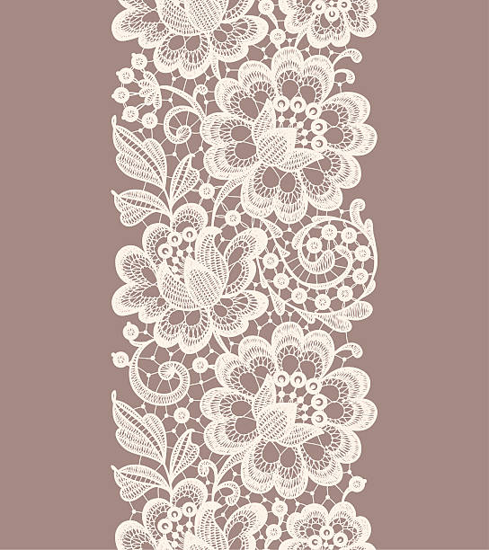 Lace Seamless Pattern. Ribbon. vector art illustration