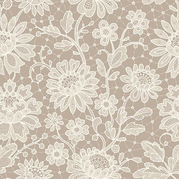 Lace Seamless Pattern.  weddings background stock illustrations