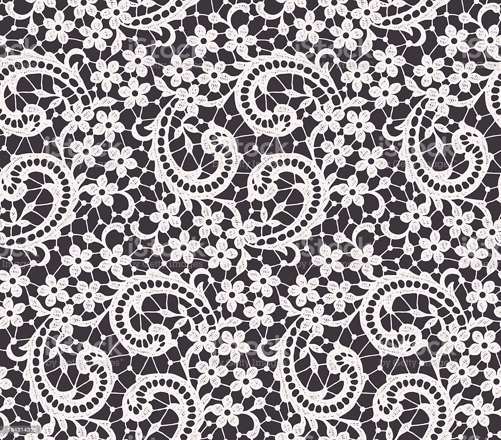 Lace Seamless Pattern. royalty-free lace seamless pattern stock vector art & more images of floral pattern