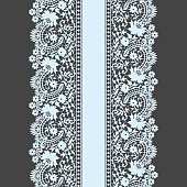 White Lace Seamless Pattern