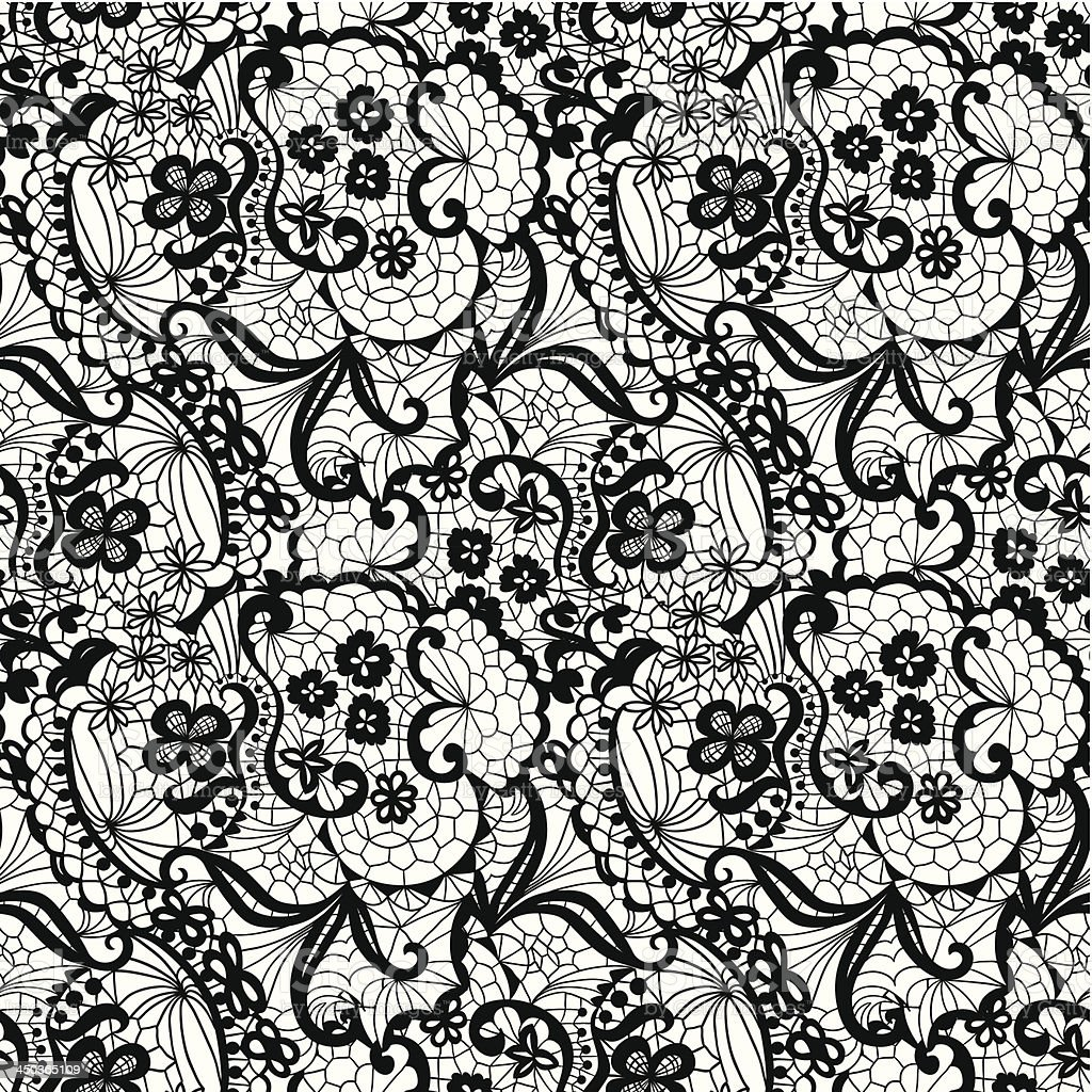 Lace seamless pattern with flowers royalty-free lace seamless pattern with flowers stock vector art & more images of abstract