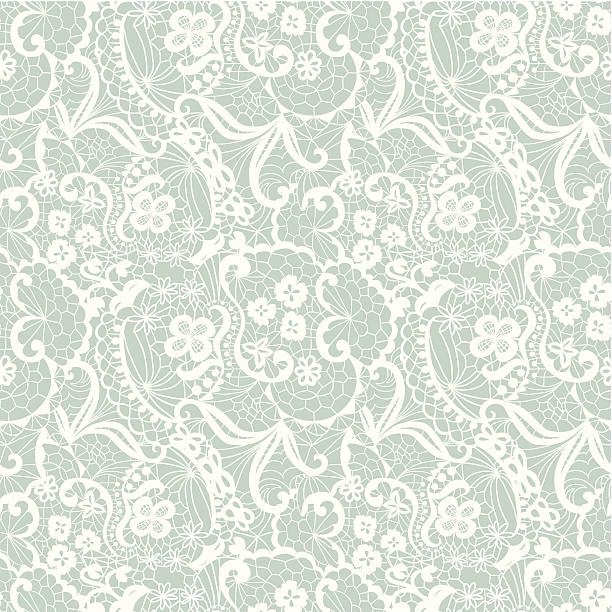 lace seamless pattern with flowers - weddings background stock illustrations