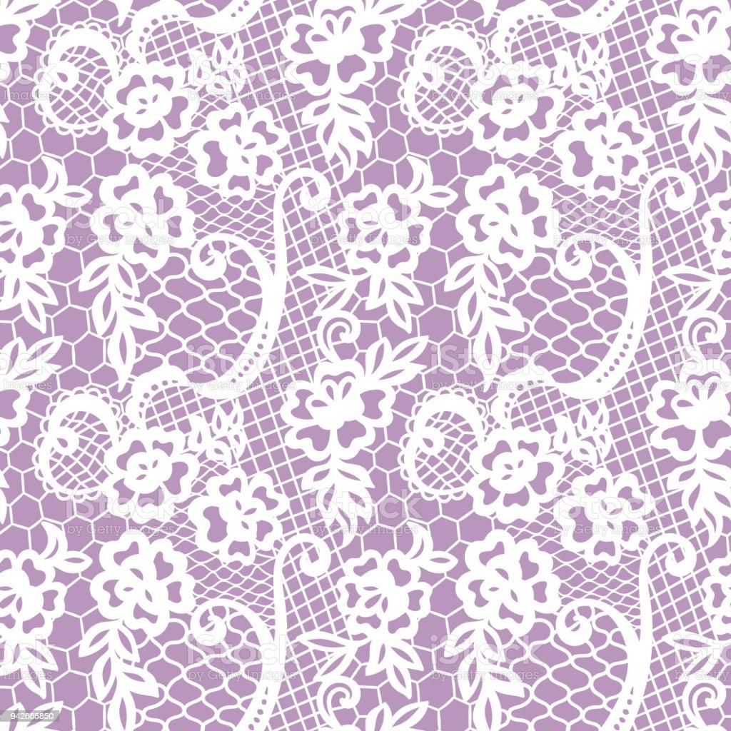 Patrón Sin Costuras Con Flores De Encaje - Arte vectorial de stock y ...