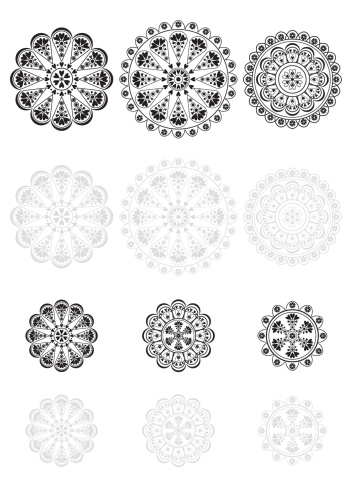 Lace Vector Icon Set