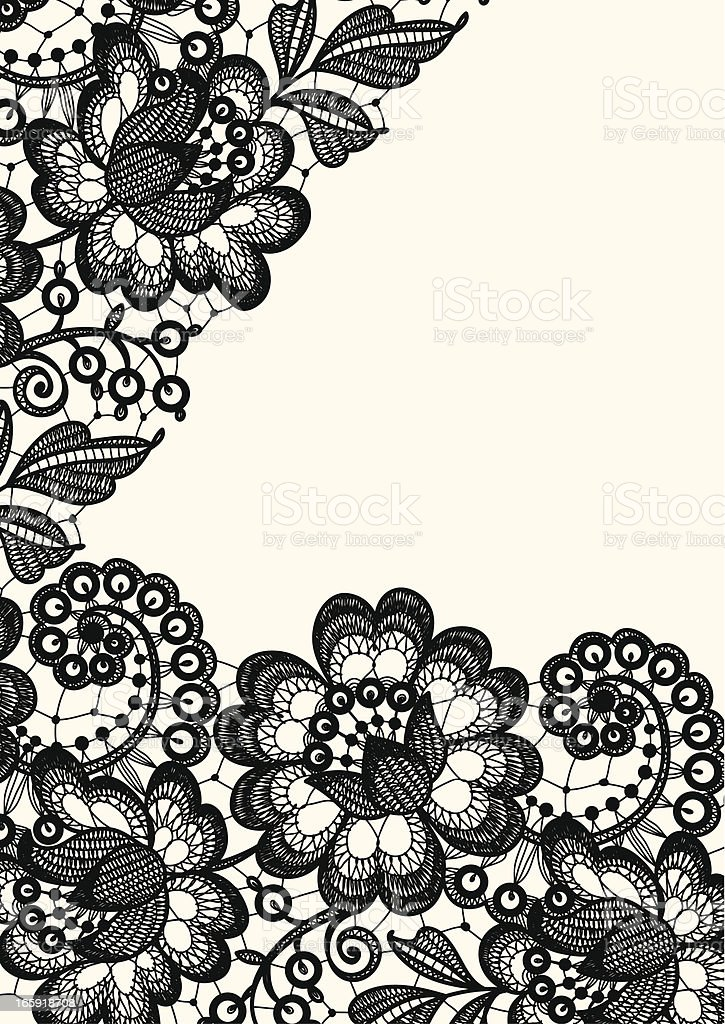 Lace royalty-free stock vector art