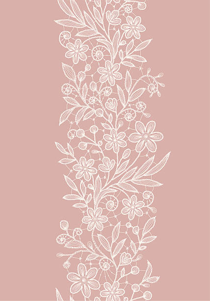 lace vertical seamless pattern. - weddings background stock illustrations