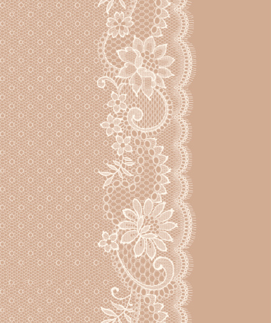 Lace Vertical Seamless Pattern.