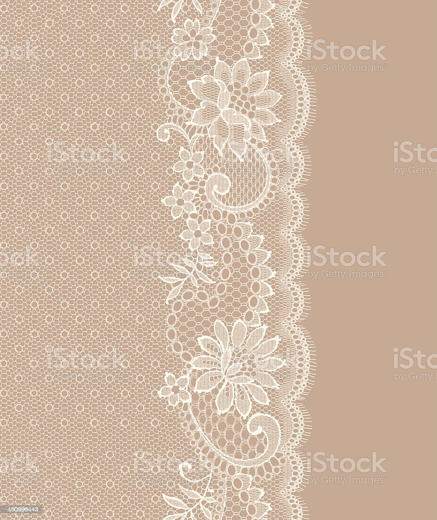 Lace Vertical Seamless Pattern. vector art illustration