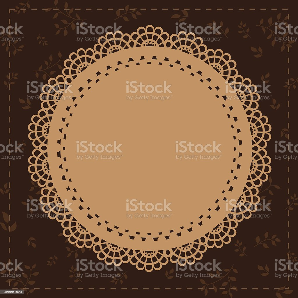 Lace vintage label brown royalty-free lace vintage label brown stock vector art & more images of abstract