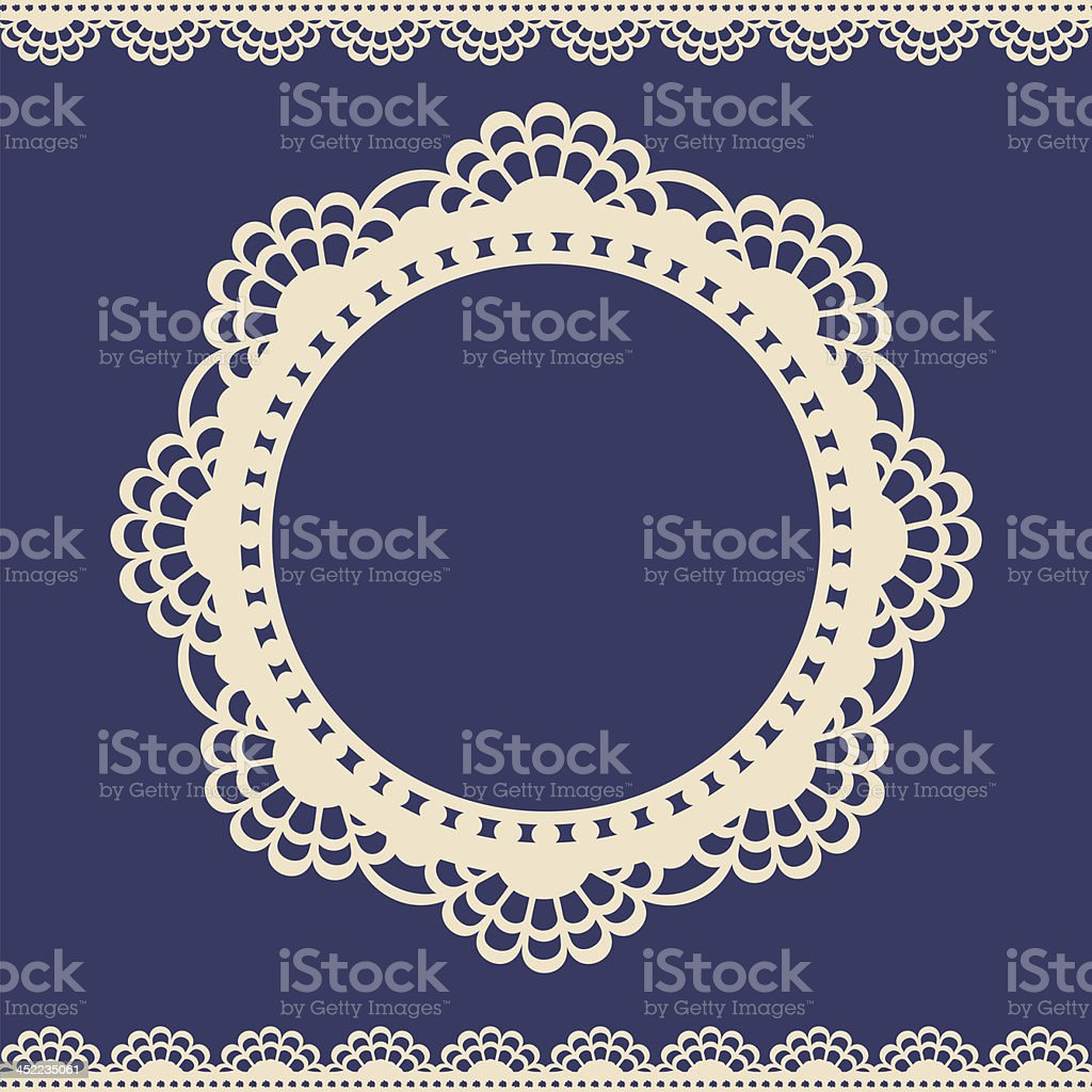 Lace vintage label vector art illustration