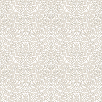Lace wedding vector seamless pattern, tiling.