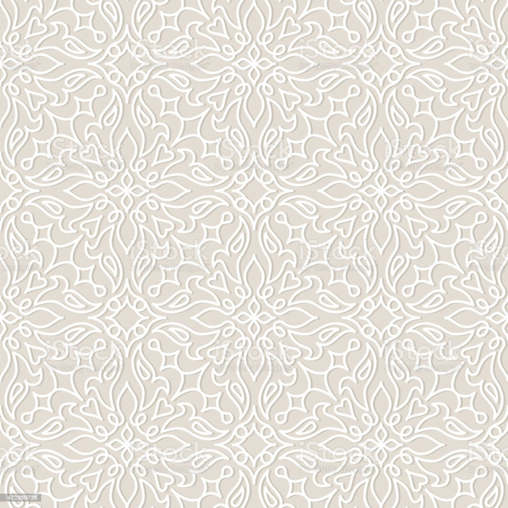 Lace wedding vector seamless pattern, tiling. vector art illustration