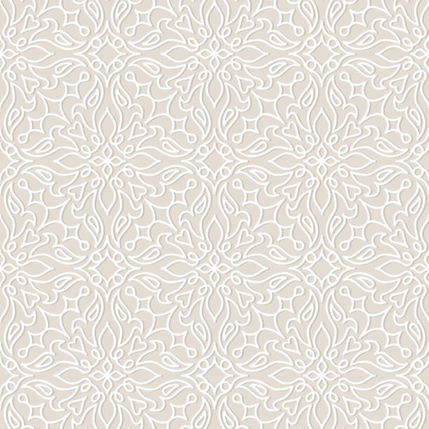 Lace wedding vector seamless pattern, tiling. Lace vector seamless pattern, tiling. Endless texture for printing onto fabric and wrapping paper or scrap booking. Geometric pattern for wedding design. weddings background stock illustrations