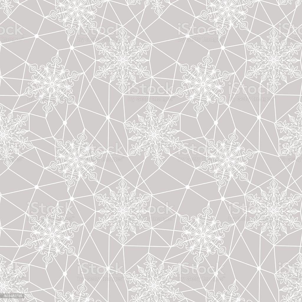 Snowflakes Patrón Blanco De Encaje Illustracion Libre de Derechos ...