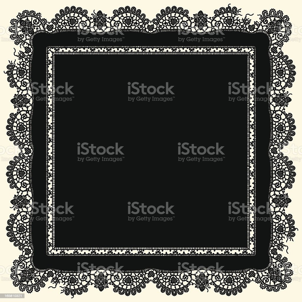 Lacerated Doily. royalty-free lacerated doily stock vector art & more images of backgrounds