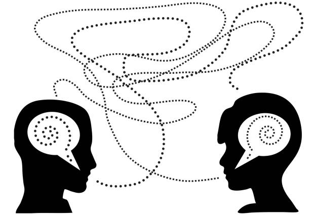 lack of communication between the pair - communication problems stock illustrations, clip art, cartoons, & icons