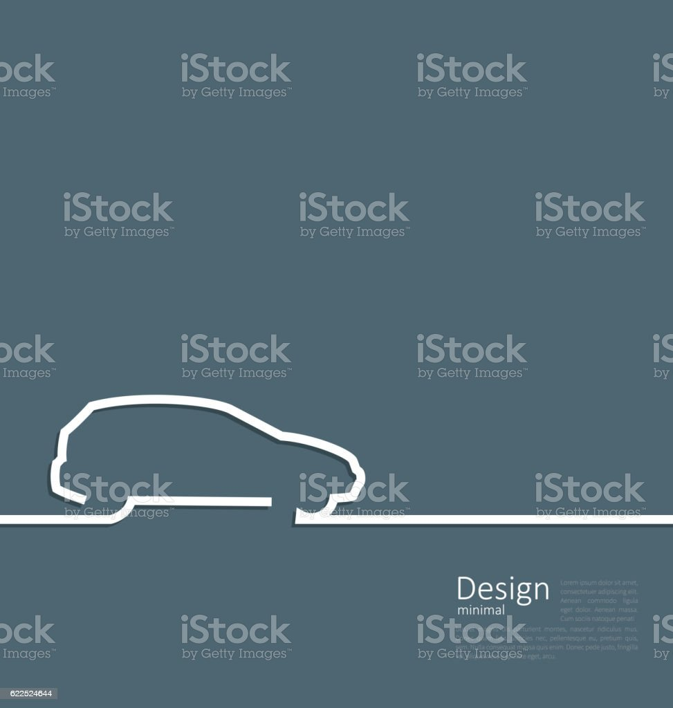 Laconic design of velocity vehicle car cleaness line flat templa vector art illustration