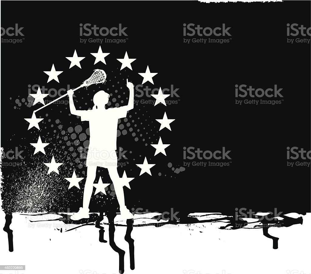 Lacrosse All-Star Background - Girls Victory royalty-free stock vector art