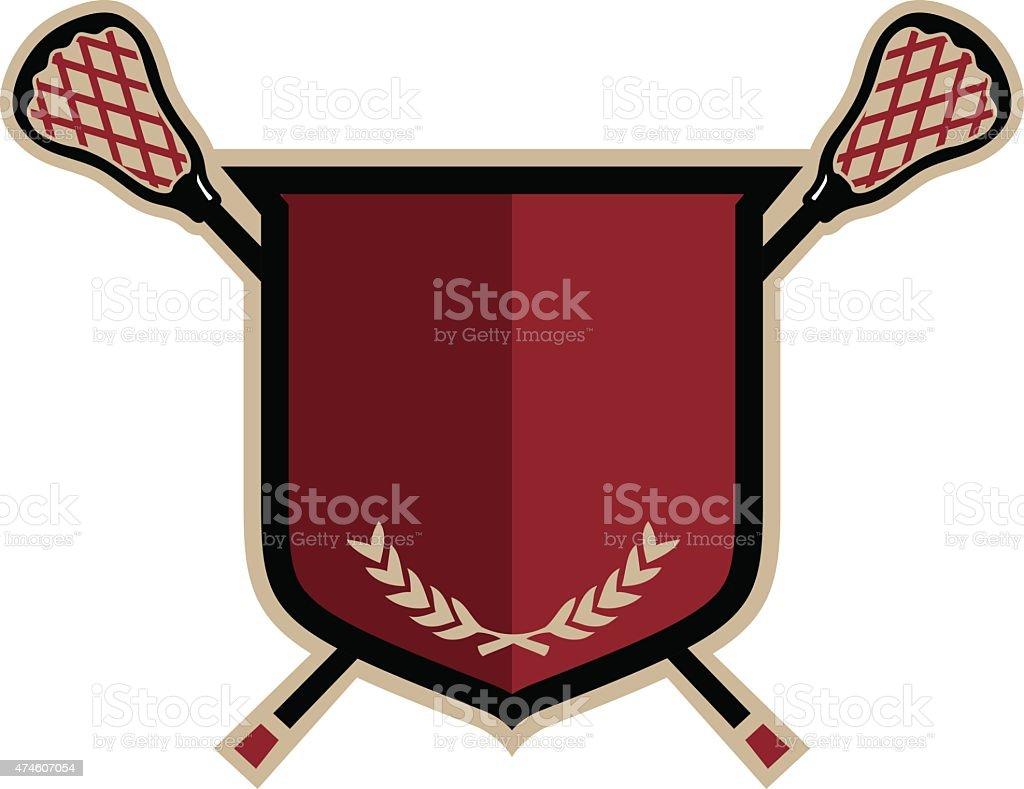 Lacrosse Emblem vector art illustration