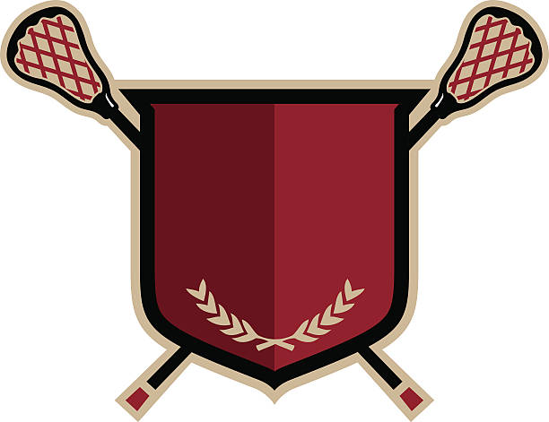 Lacrosse Emblem vector art illustration