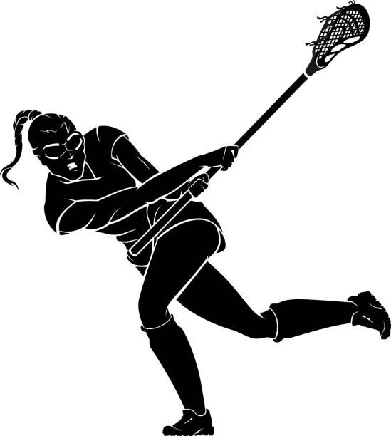Lacrosse Female Swing Stick vector art illustration