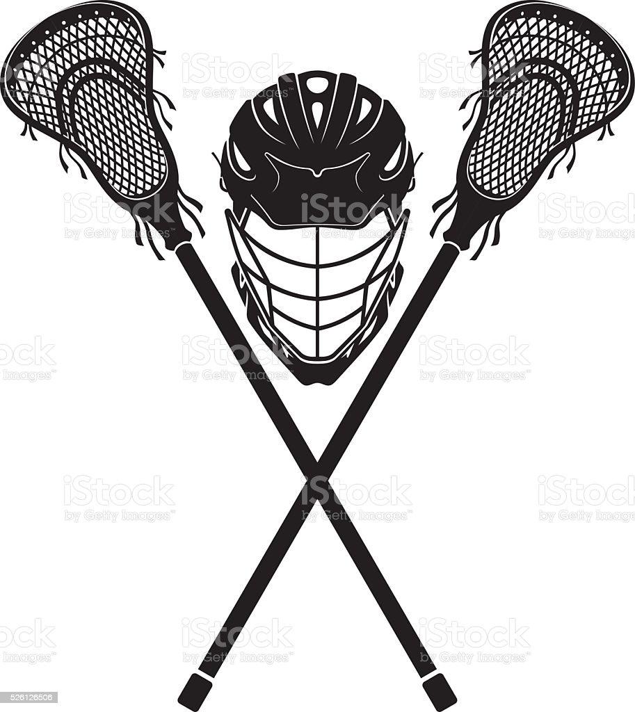 Lacrosse Gear vector art illustration