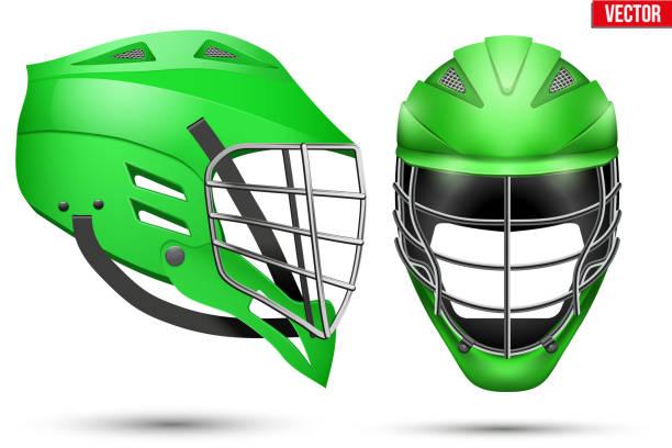 Lacrosse Helmet set - ilustración de arte vectorial