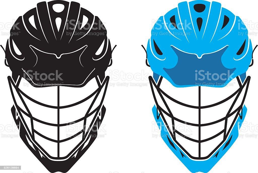 Lacrosse Helmet vector art illustration