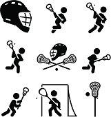Lacrosse Icons - Black Series
