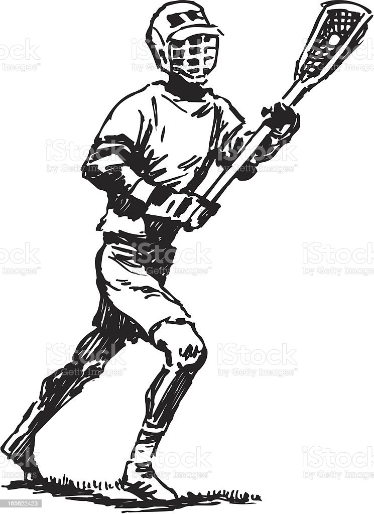 Lacrosse Player royalty-free stock vector art