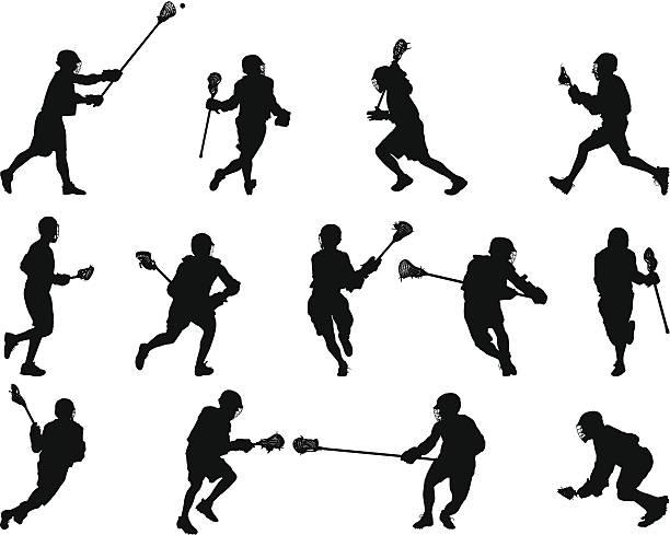 Lacrosse Silhouettes vector art illustration