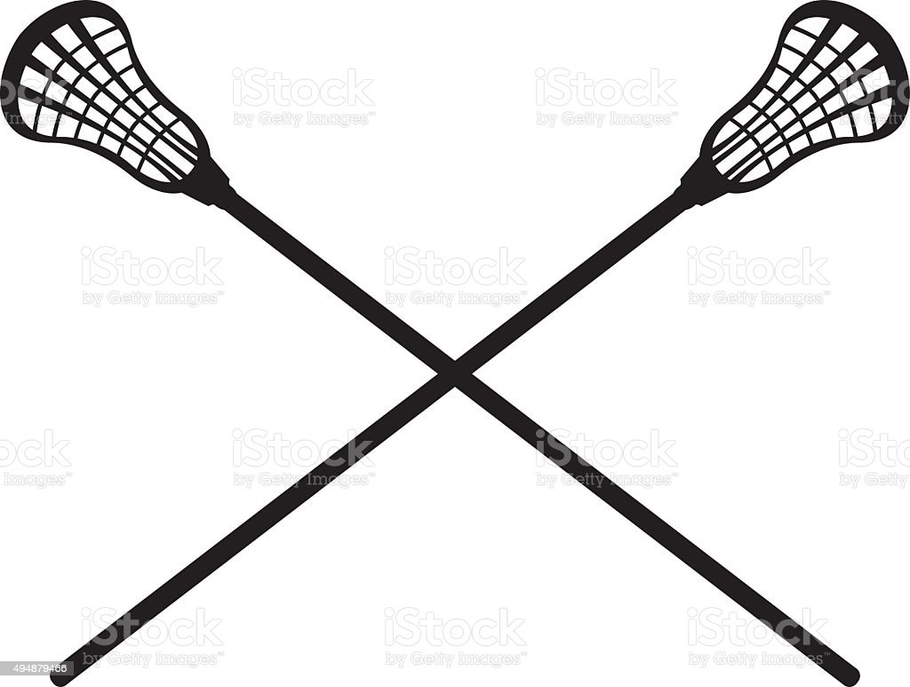 royalty free lacrosse stick clip art vector images illustrations rh istockphoto com crossed lacrosse sticks clipart Lacrosse Ball and Stick Clip Art