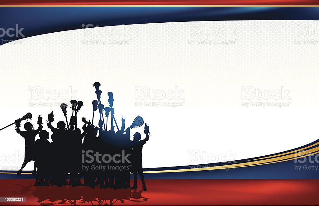 Lacrosse Team Victory Background royalty-free stock vector art