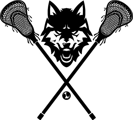Lacrosse Team Wolves, Front View