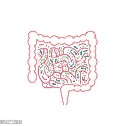 istock Lactobacillus Probiotics Icon. Normal gram-positive anaerobic microflora sign 1314333214