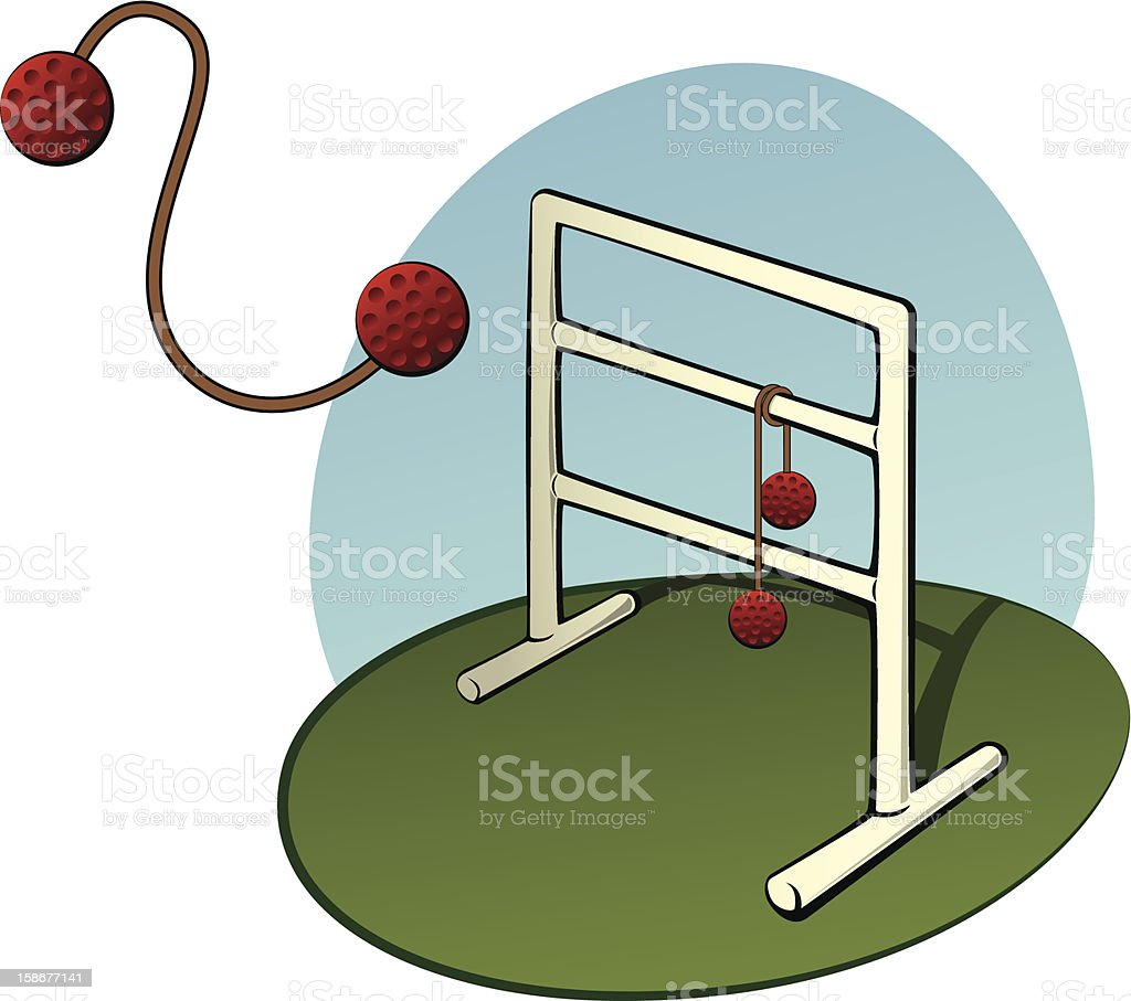 Ladder Golf vector art illustration