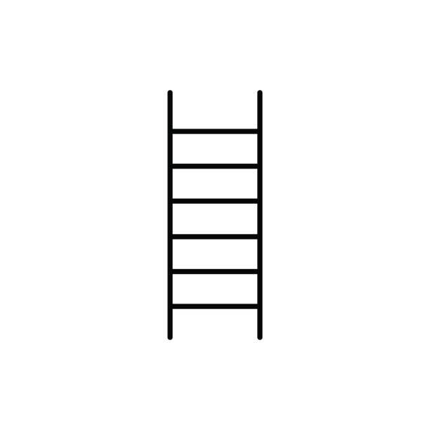 ladder icon vector art illustration