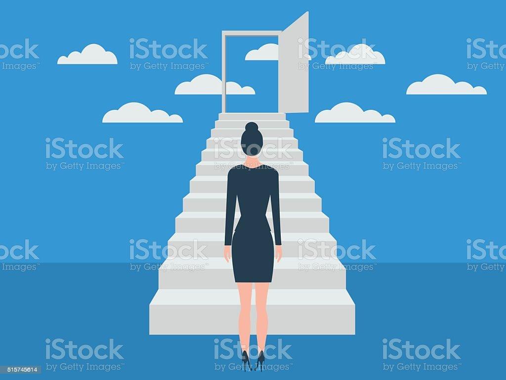 La escalera del éxito - ilustración de arte vectorial