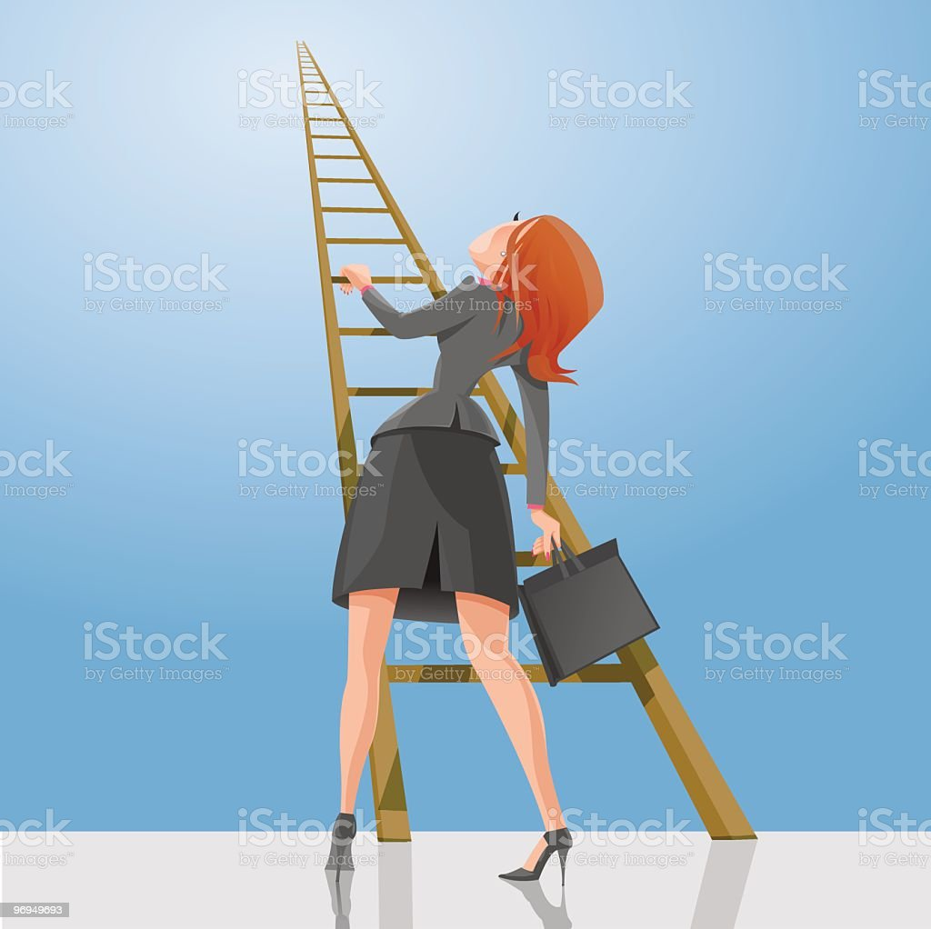 Ladder to Success royalty-free ladder to success stock vector art & more images of achievement