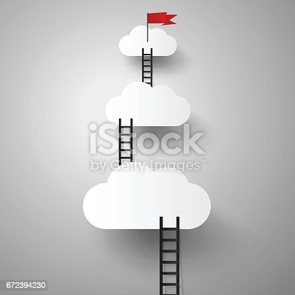business concept, Ladder up to success