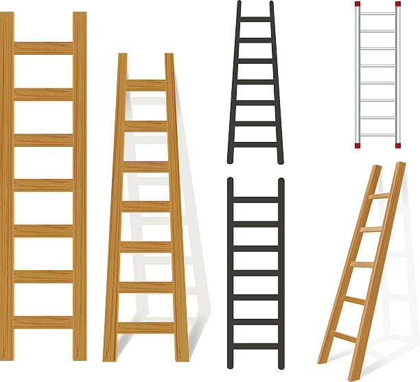 stockillustraties, clipart, cartoons en iconen met ladder - ladder