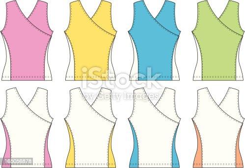 Ladies Crossover Singlet Sports Vest