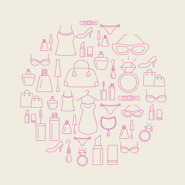 女性ファッションの背景 - 靴のファッション点のイラスト素材/クリップアート素材/マンガ素材/アイコン素材