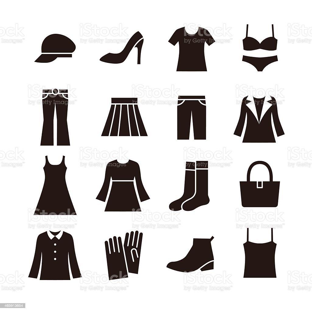 女性ファッションアイコン ベクターアートイラスト
