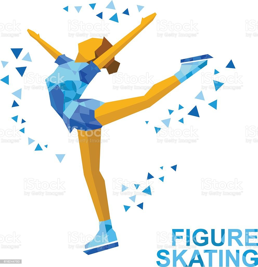 ladies figure skating cartoon skating girl training ice show stock vector art   more images of Sledding Clip Art Free ice skating images clip art free