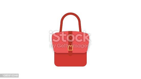 istock Ladies handbag vector icon 1085915348