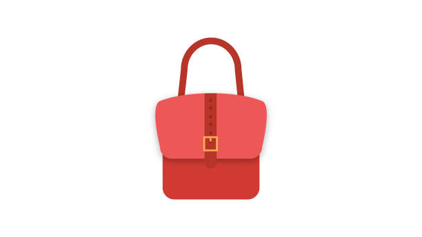 illustrazioni stock, clip art, cartoni animati e icone di tendenza di ladies handbag vector icon - borsetta