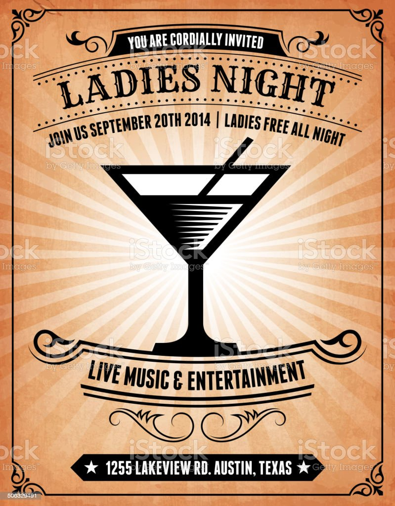 Poster ladies night 110,978 Nightlifes
