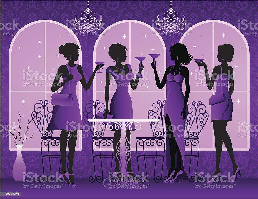 Ladies Night royalty-free stock vector art